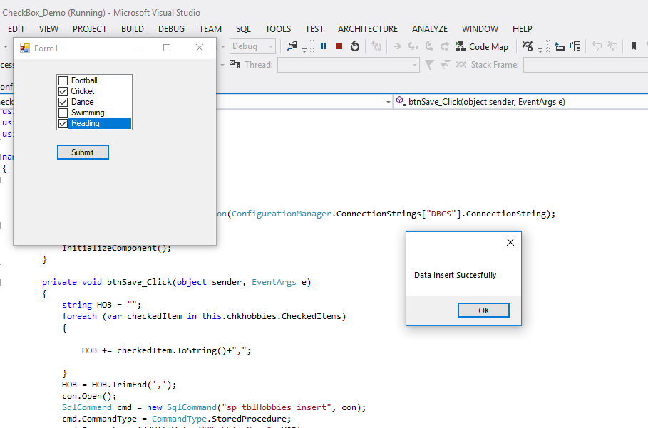 How To Insert Checkbox Value In Database Using Mvc