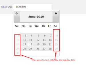 block-particular-weekdays-jquery-datepicker
