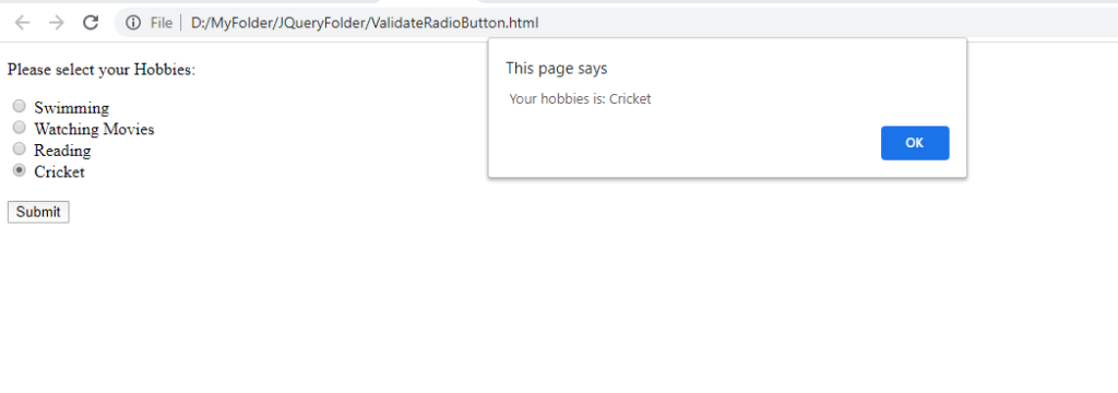 validate-radiobuttons-using-jquery